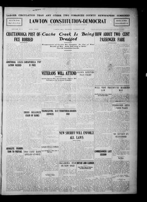 Primary view of object titled 'Lawton Constitution-Democrat (Lawton, Okla.), Vol. 6, No. 27, Ed. 1 Thursday, November 14, 1907'.