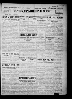 Primary view of object titled 'Lawton Constitution-Democrat (Lawton, Okla.), Vol. 6, No. 29, Ed. 1 Thursday, November 28, 1907'.