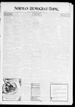 Primary view of object titled 'Norman Democrat--Topic. (Norman, Okla.), Vol. 17, No. 25, Ed. 2 Friday, January 10, 1908'.