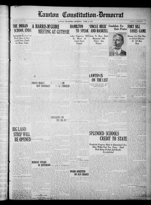 Primary view of object titled 'Lawton Constitution-Democrat (Lawton, Okla.), Vol. 4, No. 10, Ed. 1 Thursday, June 16, 1910'.