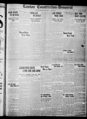 Primary view of object titled 'Lawton Constitution-Democrat (Lawton, Okla.), Vol. 4, No. 11, Ed. 1 Thursday, June 23, 1910'.