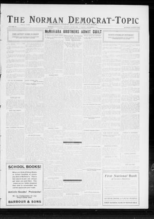 Primary view of The Norman Democrat-Topic (Norman, Okla.), Vol. 23, No. 21, Ed. 1 Tuesday, December 5, 1911