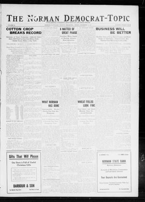 Primary view of object titled 'The Norman Democrat-Topic (Norman, Okla.), Vol. 23, No. 24, Ed. 1 Friday, December 15, 1911'.