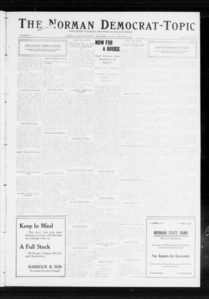 Primary view of object titled 'The Norman Democrat-Topic (Norman, Okla.), Vol. 23, No. 36, Ed. 1 Friday, January 26, 1912'.