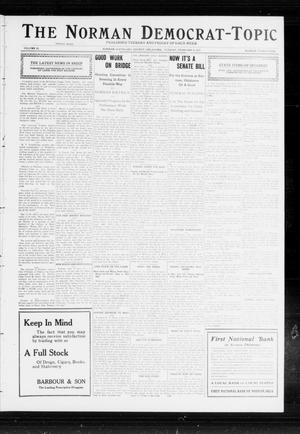 Primary view of object titled 'The Norman Democrat-Topic (Norman, Okla.), Vol. 23, No. 39, Ed. 1 Tuesday, February 6, 1912'.