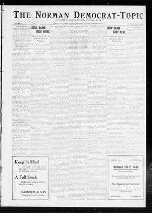 Primary view of object titled 'The Norman Democrat-Topic (Norman, Okla.), Vol. 23, No. 42, Ed. 1 Monday, February 12, 1912'.