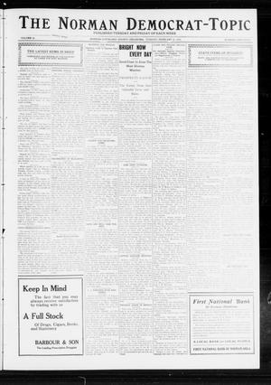 Primary view of object titled 'The Norman Democrat-Topic (Norman, Okla.), Vol. 23, No. 45, Ed. 1 Tuesday, February 27, 1912'.
