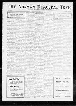 Primary view of object titled 'The Norman Democrat-Topic (Norman, Okla.), Vol. 23, No. 46, Ed. 1 Friday, March 1, 1912'.