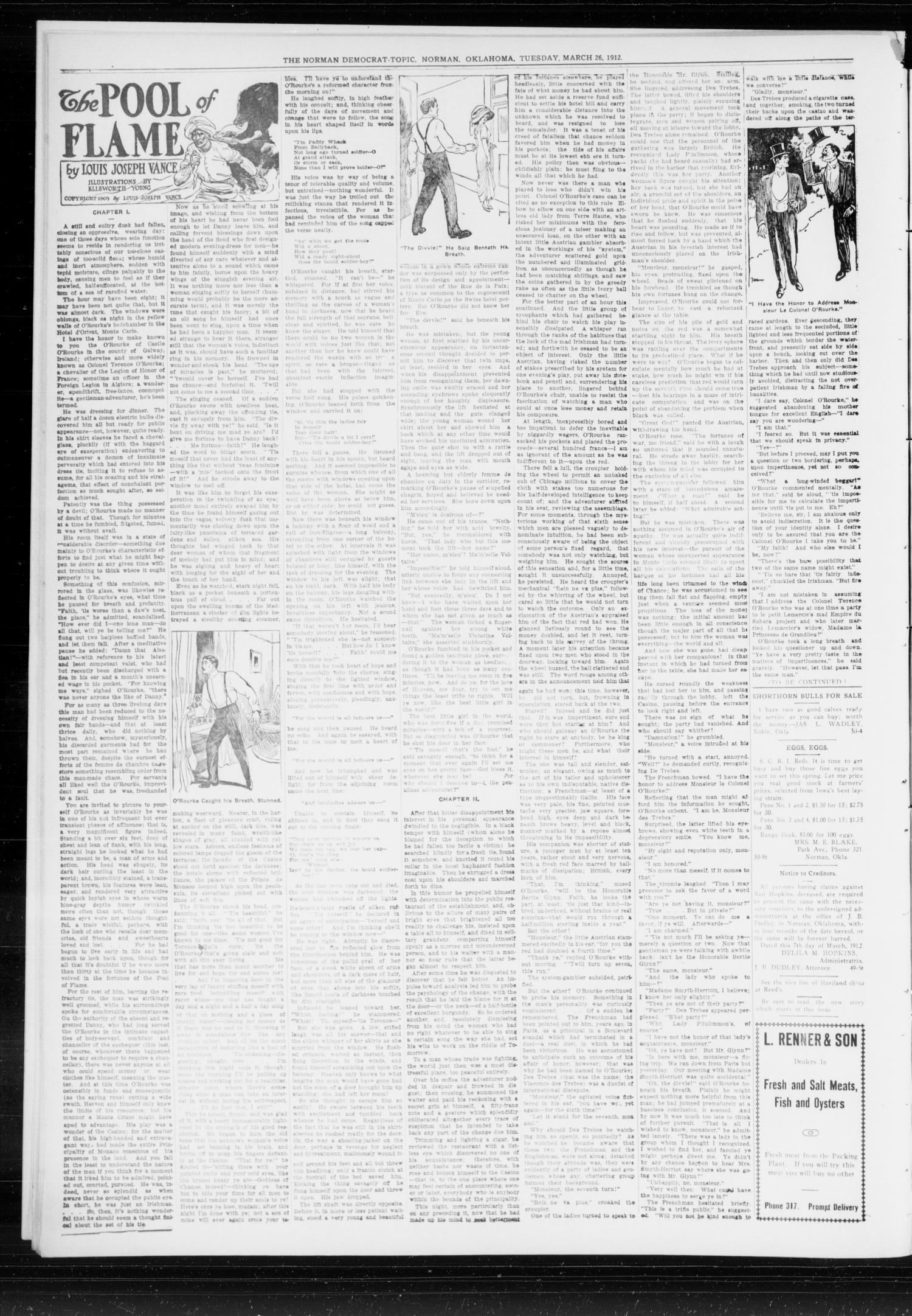 The Norman Democrat-Topic (Norman, Okla.), Vol. 23, No. 53, Ed. 1 Tuesday, March 26, 1912                                                                                                      [Sequence #]: 4 of 4