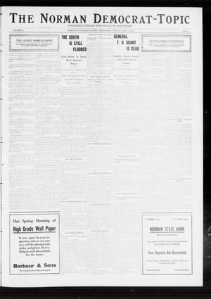 Primary view of object titled 'The Norman Democrat-Topic (Norman, Okla.), Vol. 23, No. 59, Ed. 1 Tuesday, April 16, 1912'.