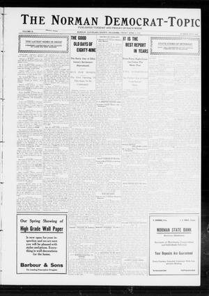 Primary view of object titled 'The Norman Democrat-Topic (Norman, Okla.), Vol. 23, No. 56, Ed. 1 Saturday, May 4, 1912'.