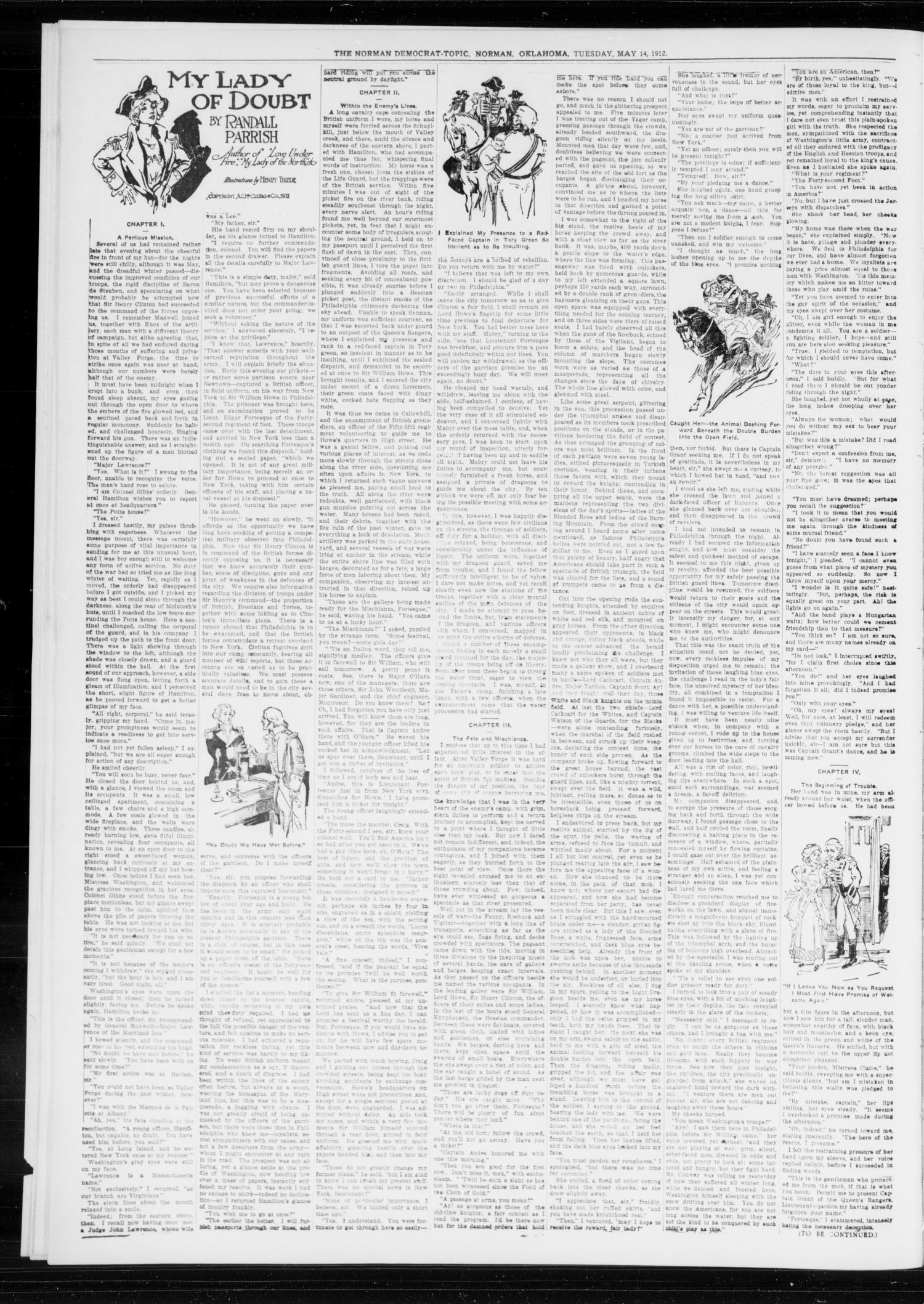 The Norman Democrat-Topic (Norman, Okla.), Vol. 23, No. 67, Ed. 1 Tuesday, May 14, 1912                                                                                                      [Sequence #]: 4 of 4