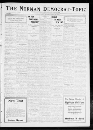 Primary view of object titled 'The Norman Democrat-Topic (Norman, Okla.), Vol. 23, No. 71, Ed. 1 Tuesday, May 28, 1912'.