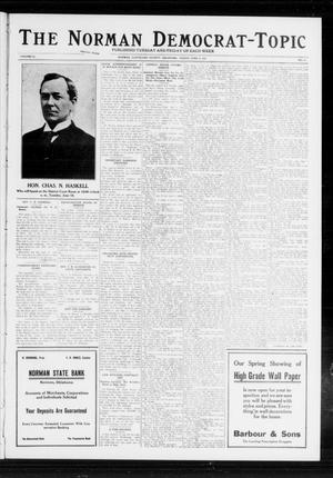 Primary view of object titled 'The Norman Democrat-Topic (Norman, Okla.), Vol. 23, No. 76, Ed. 1 Friday, June 14, 1912'.