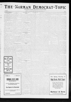 Primary view of object titled 'The Norman Democrat-Topic (Norman, Okla.), Vol. 23, No. 78, Ed. 1 Friday, June 21, 1912'.