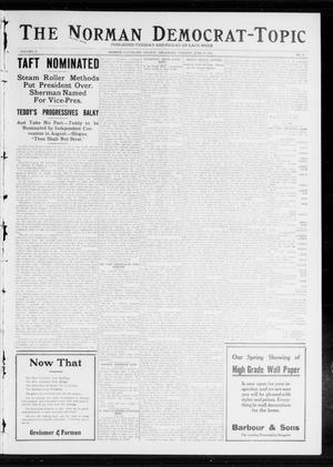 Primary view of object titled 'The Norman Democrat-Topic (Norman, Okla.), Vol. 23, No. 79, Ed. 1 Tuesday, June 25, 1912'.