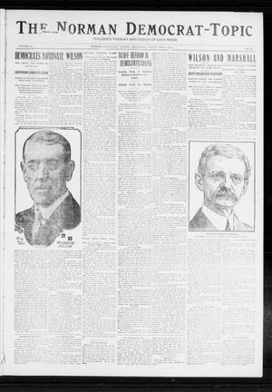 Primary view of object titled 'The Norman Democrat-Topic (Norman, Okla.), Vol. 23, No. 82, Ed. 1 Friday, July 5, 1912'.