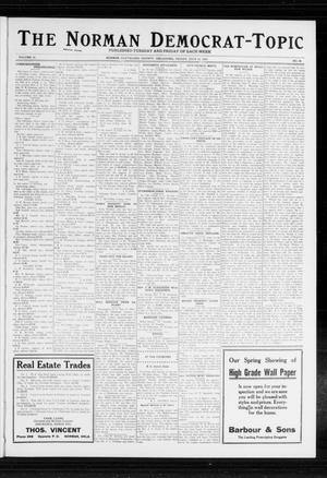 Primary view of object titled 'The Norman Democrat-Topic (Norman, Okla.), Vol. 23, No. 84, Ed. 1 Friday, July 12, 1912'.