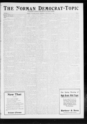 Primary view of object titled 'The Norman Democrat-Topic (Norman, Okla.), Vol. 23, No. 85, Ed. 1 Tuesday, July 16, 1912'.