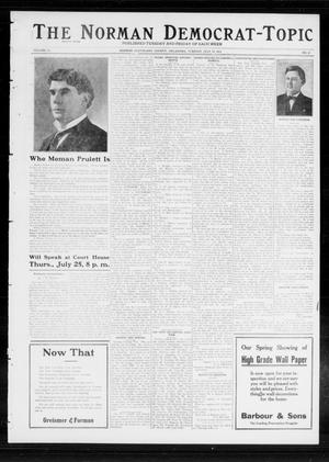 Primary view of object titled 'The Norman Democrat-Topic (Norman, Okla.), Vol. 23, No. 87, Ed. 1 Tuesday, July 23, 1912'.