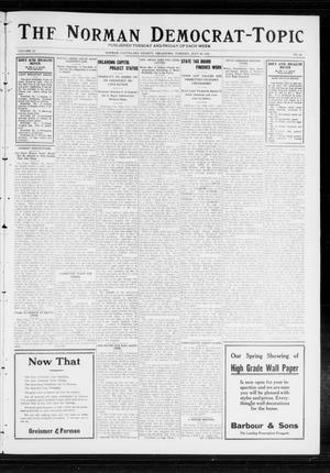 Primary view of object titled 'The Norman Democrat-Topic (Norman, Okla.), Vol. 23, No. 89, Ed. 1 Tuesday, July 30, 1912'.