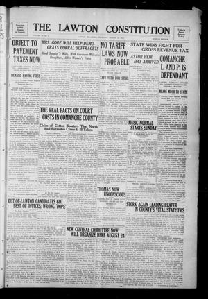 Primary view of object titled 'The Lawton Constitution (Lawton, Okla.), Vol. 11, No. 2, Ed. 1 Thursday, August 15, 1912'.