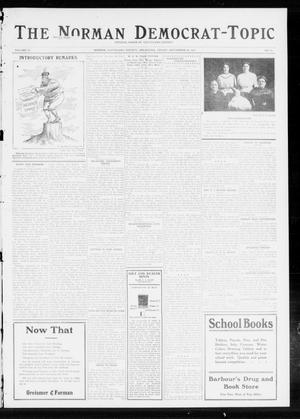 Primary view of object titled 'The Norman Democrat-Topic (Norman, Okla.), Vol. 23, No. 97, Ed. 1 Friday, September 20, 1912'.