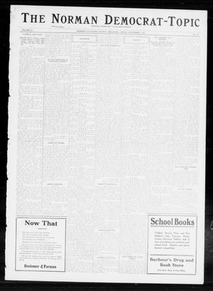 Primary view of object titled 'The Norman Democrat-Topic (Norman, Okla.), Vol. 23, No. 103, Ed. 1 Friday, November 1, 1912'.