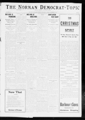 Primary view of object titled 'The Norman Democrat-Topic (Norman, Okla.), Vol. 23, No. 109, Ed. 1 Friday, December 13, 1912'.