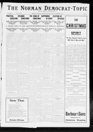 Primary view of object titled 'The Norman Democrat-Topic (Norman, Okla.), Vol. 23, No. 110, Ed. 1 Friday, December 20, 1912'.