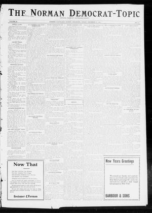 Primary view of object titled 'The Norman Democrat-Topic (Norman, Okla.), Vol. 23, No. 111, Ed. 1 Friday, December 27, 1912'.