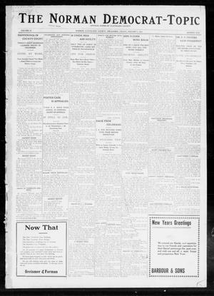 Primary view of object titled 'The Norman Democrat-Topic (Norman, Okla.), Vol. 24, No. 1, Ed. 1 Friday, January 3, 1913'.
