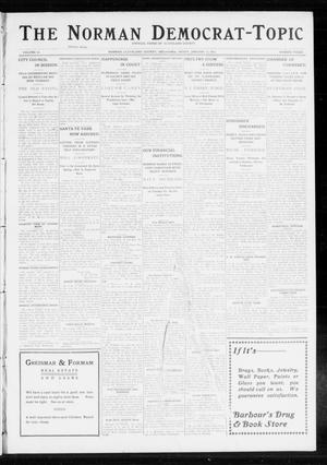 Primary view of object titled 'The Norman Democrat-Topic (Norman, Okla.), Vol. 24, No. 3, Ed. 1 Friday, January 17, 1913'.