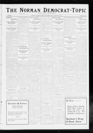 Primary view of object titled 'The Norman Democrat-Topic (Norman, Okla.), Vol. 24, No. 5, Ed. 1 Friday, January 31, 1913'.