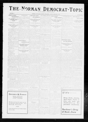Primary view of object titled 'The Norman Democrat-Topic (Norman, Okla.), Vol. 24, No. 6, Ed. 1 Friday, February 7, 1913'.
