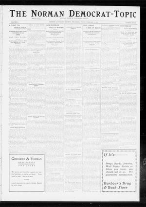 Primary view of object titled 'The Norman Democrat-Topic (Norman, Okla.), Vol. 24, No. 7, Ed. 1 Friday, February 14, 1913'.