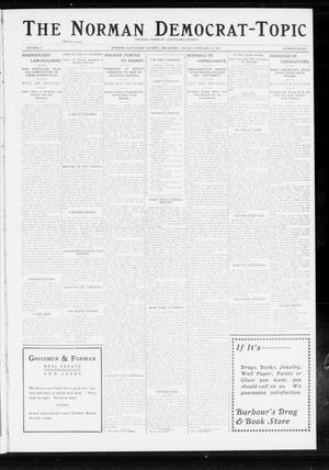 Primary view of object titled 'The Norman Democrat-Topic (Norman, Okla.), Vol. 24, No. 8, Ed. 1 Friday, February 21, 1913'.