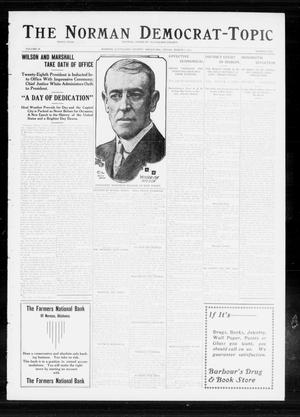 Primary view of object titled 'The Norman Democrat-Topic (Norman, Okla.), Vol. 24, No. 10, Ed. 1 Friday, March 7, 1913'.
