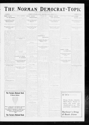 Primary view of object titled 'The Norman Democrat-Topic (Norman, Okla.), Vol. 24, No. 11, Ed. 1 Friday, March 14, 1913'.