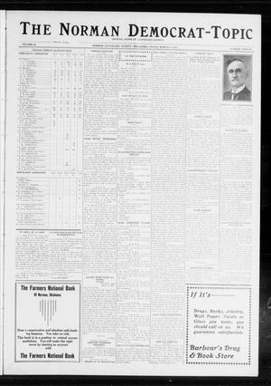 Primary view of object titled 'The Norman Democrat-Topic (Norman, Okla.), Vol. 24, No. 12, Ed. 1 Friday, March 21, 1913'.