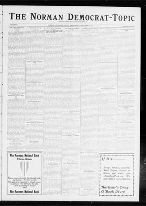 Primary view of object titled 'The Norman Democrat-Topic (Norman, Okla.), Vol. 24, No. 16, Ed. 1 Friday, April 18, 1913'.