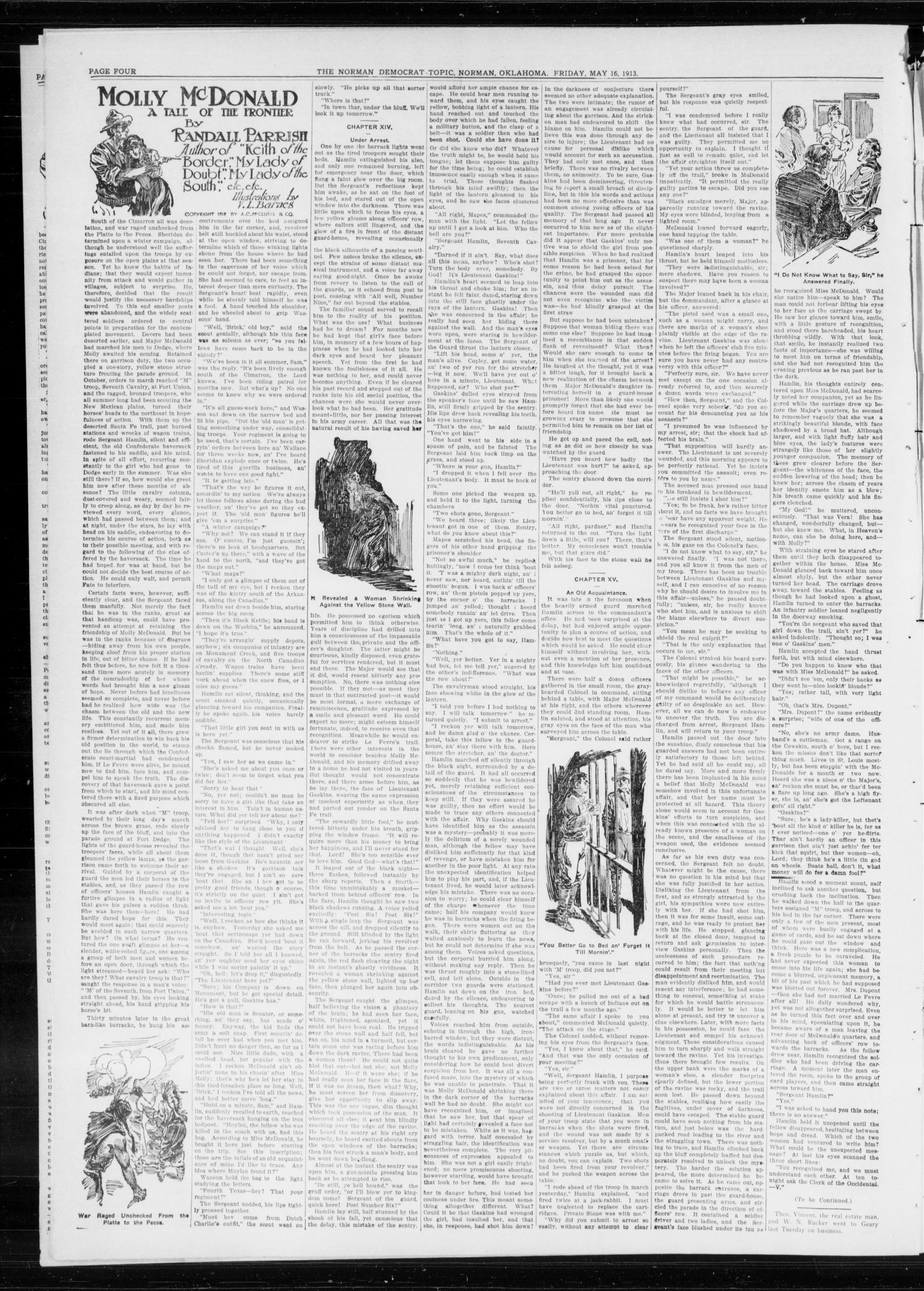 The Norman Democrat-Topic (Norman, Okla.), Vol. 24, No. 20, Ed. 1 Friday, May 16, 1913                                                                                                      [Sequence #]: 4 of 6