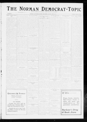 Primary view of object titled 'The Norman Democrat-Topic (Norman, Okla.), Vol. 24, No. 25, Ed. 1 Friday, June 20, 1913'.