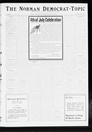 Primary view of object titled 'The Norman Democrat-Topic (Norman, Okla.), Vol. 24, No. 26, Ed. 1 Friday, June 27, 1913'.