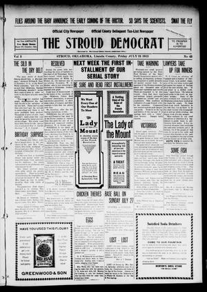 Primary view of object titled 'The Stroud Democrat (Stroud, Okla.), Vol. 2, No. 43, Ed. 1 Friday, July 25, 1913'.
