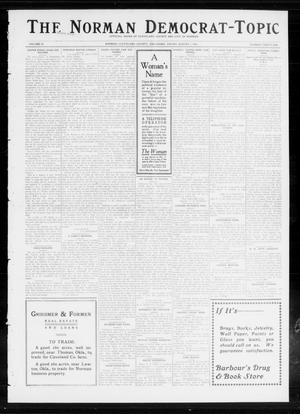 Primary view of object titled 'The Norman Democrat-Topic (Norman, Okla.), Vol. 24, No. 31, Ed. 1 Friday, August 1, 1913'.