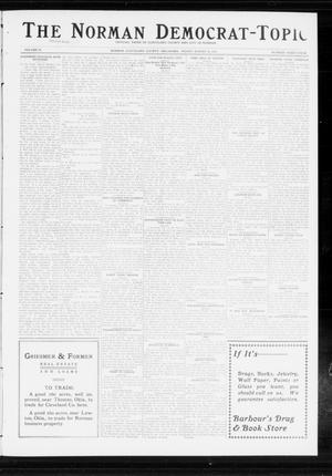 Primary view of object titled 'The Norman Democrat-Topic (Norman, Okla.), Vol. 24, No. 34, Ed. 1 Friday, August 22, 1913'.
