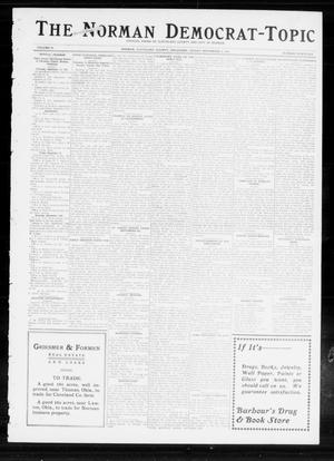 Primary view of object titled 'The Norman Democrat-Topic (Norman, Okla.), Vol. 24, No. 36, Ed. 1 Friday, September 5, 1913'.