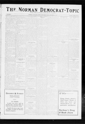 Primary view of object titled 'The Norman Democrat-Topic (Norman, Okla.), Vol. 24, No. 37, Ed. 1 Friday, September 12, 1913'.