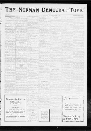 Primary view of object titled 'The Norman Democrat-Topic (Norman, Okla.), Vol. 24, No. 38, Ed. 1 Friday, September 19, 1913'.